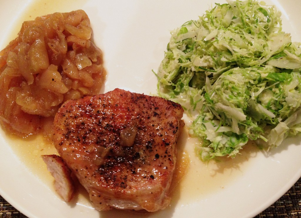 pork chop with apples and onions