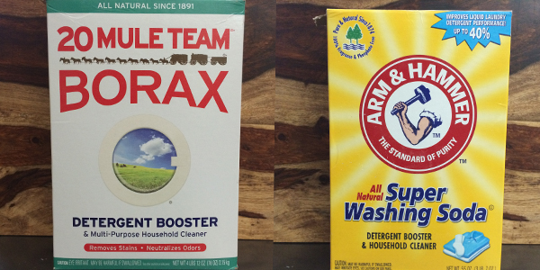 borax and washing soda