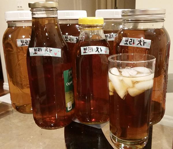 korean roasted barley tea bori cha