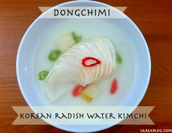 dongchimi radish water kimchi