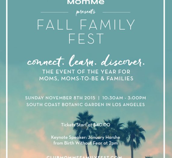 Giveaway: Win Tickets to Club MomMe's Fall Family Fest!
